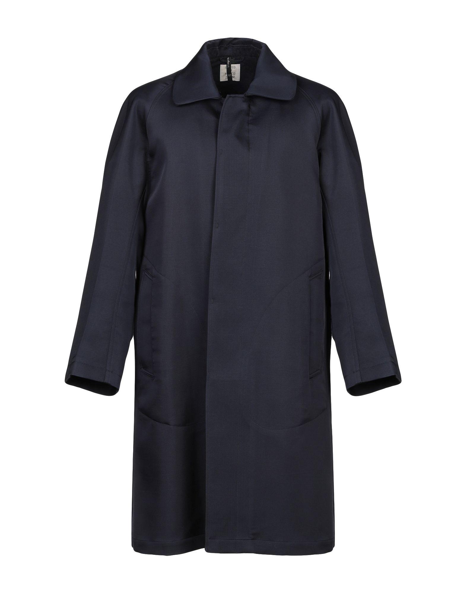《セール開催中》SANTONI EDITED by MARCO ZANINI メンズ コート ダークブルー 48 ウール 58% / アセテート 40% / シルク 2%