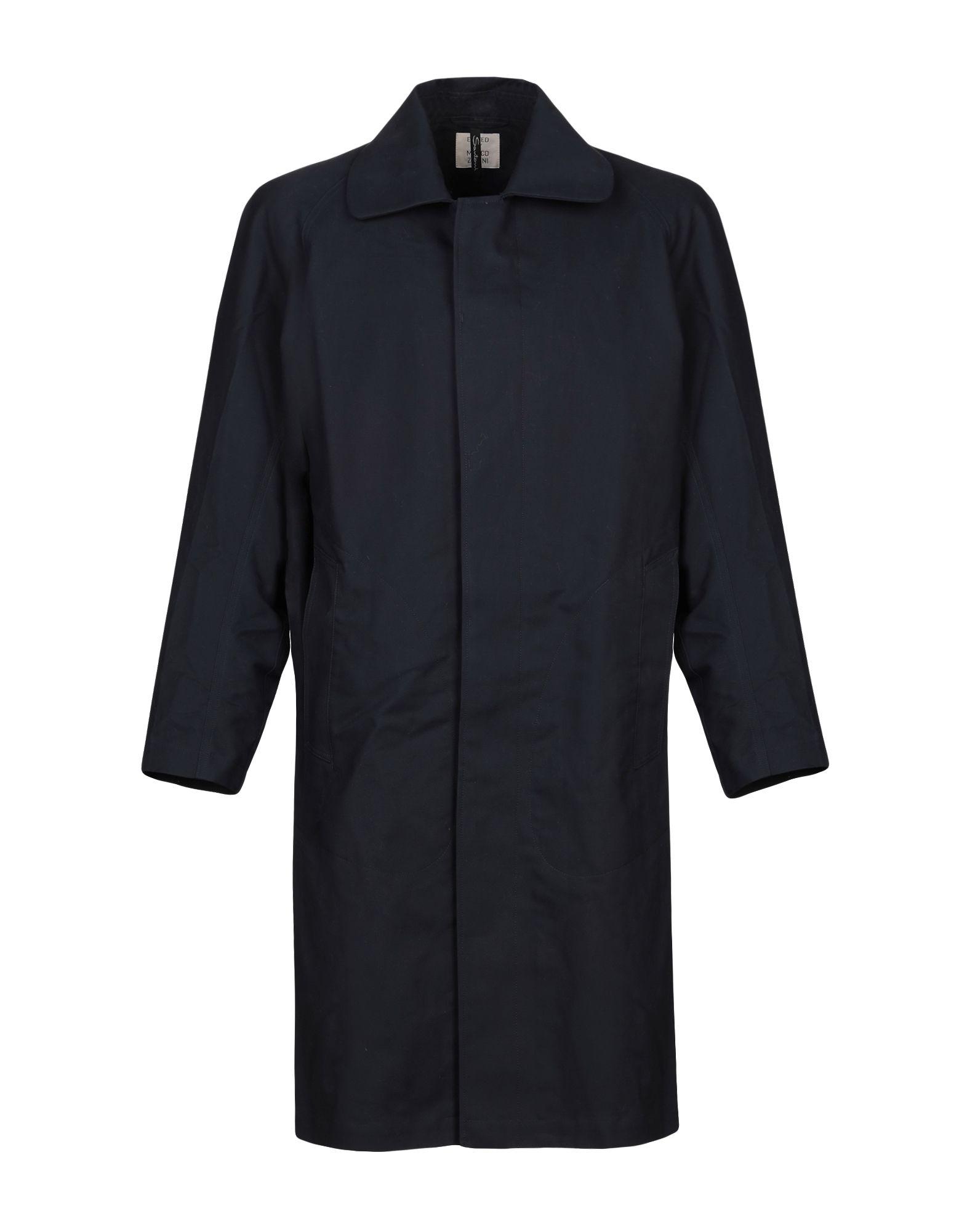 《セール開催中》SANTONI EDITED by MARCO ZANINI メンズ コート ダークブルー 48 コットン 100%