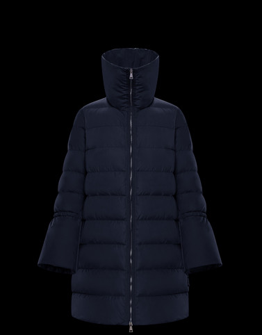 BELIA Dark blue Long Down Jackets