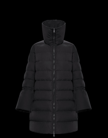 BELIA Black Long Down Jackets Woman