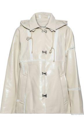 3.1 PHILLIP LIM Oversized crochet-trimmed coated cotton-blend rain jacket