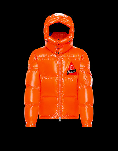 WILSON Orange Down Jackets Man