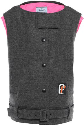 PRADA Oversized belted wool vest