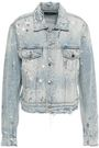 AMIRI Distressed painted denim jacket