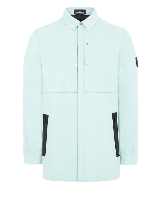 STONE ISLAND SHADOW PROJECT Q0101 VENTED RAW EDGE OVERSHIRT LIGHTWEIGHT JACKET Man Light Green