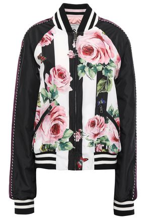 DOLCE & GABBANA Reversible printed shell bomber jacket
