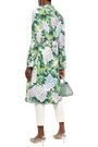 DOLCE & GABBANA Button-detailed organza and crepe trench coat