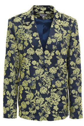 CINQ À SEPT Satin-jacquard blazer