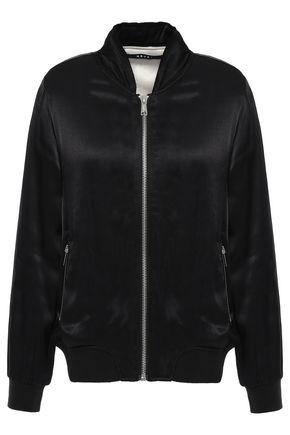KSUBI Embroidered satin bomber jacket