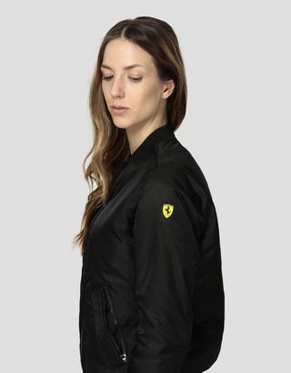 Scuderia Ferrari Online Store - Women's padded bomber jacket in water repellent fabric - Bombers & Track Jackets