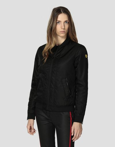 Women's padded water-repellent bomber jacket