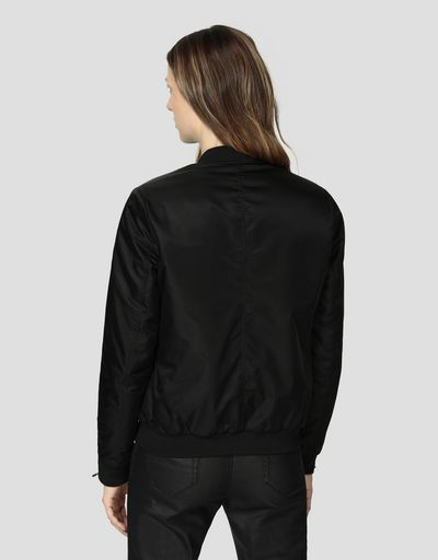 Women's padded bomber jacket in water repellent fabric