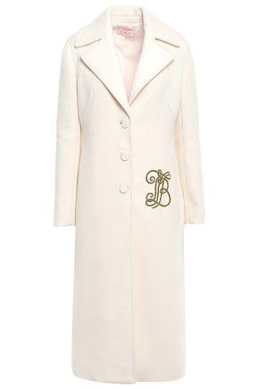 TORY BURCH Appliquéd felt coat