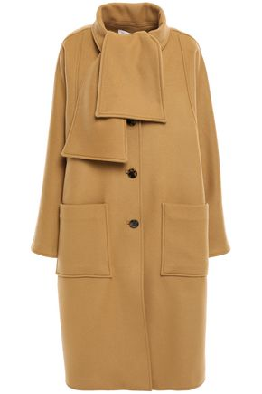 TORY BURCH Paneled wool-blend felt coat