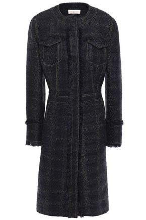 TORY BURCH Frayed tweed and Tinsel coat