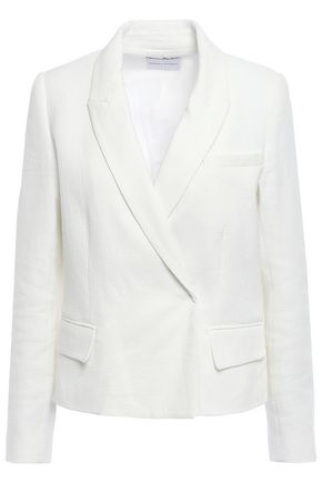 REBECCA MINKOFF Double-breasted cotton-blend blazer