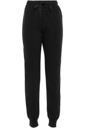 CLU Satin-trimmed fleece track pants