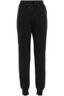 CLU Satin-trimmed fleece track pants
