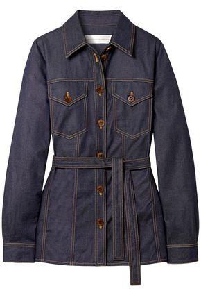 VICTORIA, VICTORIA BECKHAM Belted denim jacket