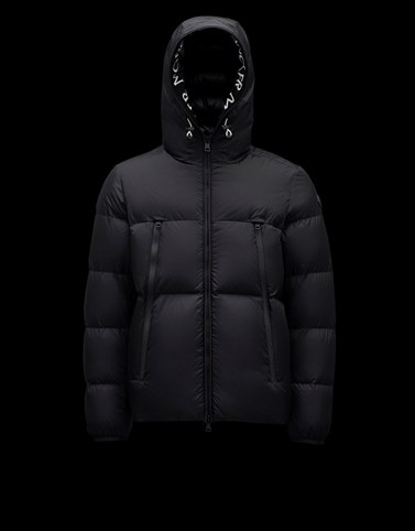 MONTCLA Black Down Jackets Man