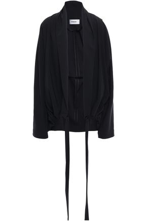 CHALAYAN Oversized pinstriped woven jacket