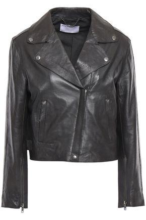 MUUBAA Cropped leather biker jacket