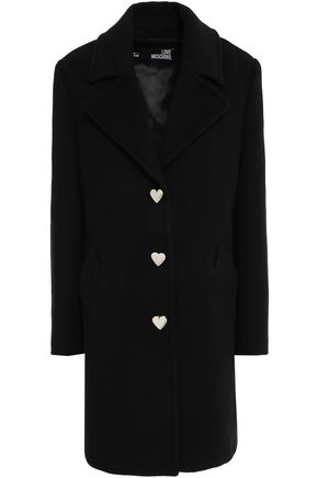 LOVE MOSCHINO Button-embellished wool-blend felt coat
