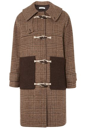 REJINA PYO Lila hooded checked wool-blend duffle coat