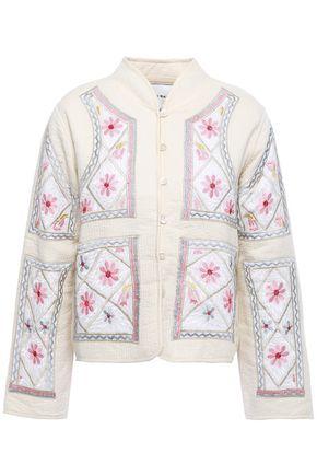 ANTIK BATIK Embroidered quilted cotton jacket