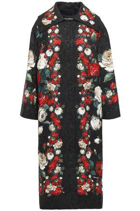 DOLCE & GABBANA Cotton-blend brocade coat