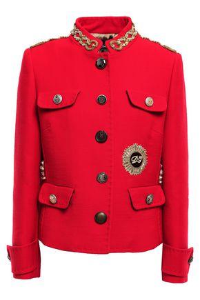 DOLCE & GABBANA Embellished wool-crepe jacket