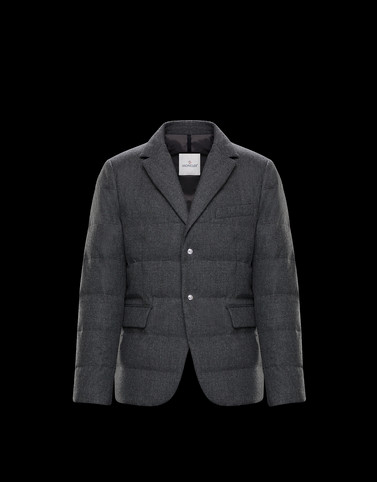 HELIERE Grey Jackets & Coats