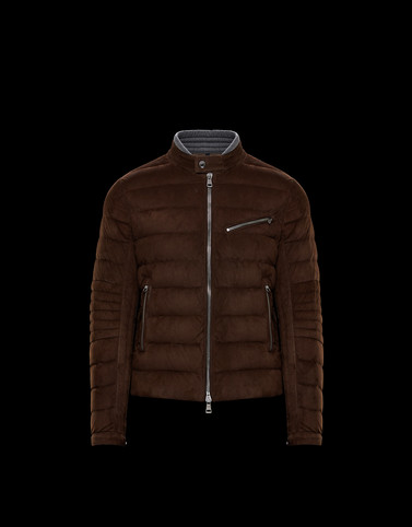 LEFRANC Brown Down Jackets Man
