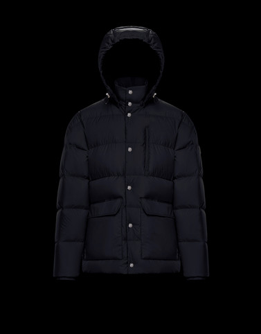 ROLLAND Dark blue Down Jackets Man
