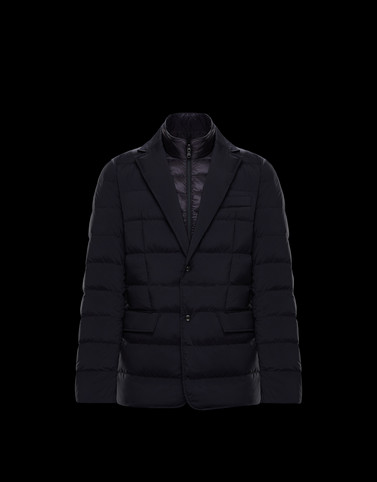 FERRANDIER Dark blue Down Jackets