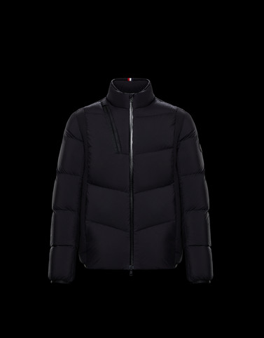 LEBLANC Black Down Jackets Man