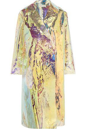 MANSUR GAVRIEL Iridescent crinkled-vinyl trench coat