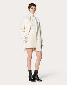 Manteau en drap compact avec détail poésie