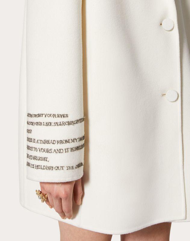Cappotto in Compact Drap con poesia