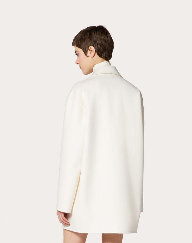 Mantel aus Compact Drap mit Gedicht