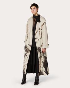 Undercover Print Gabardine Trench Coat