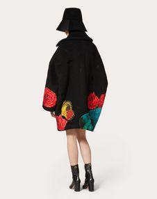 Manteau en drap compact avec imprimé Undercover appliqué et brodé