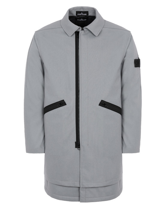 STONE ISLAND SHADOW PROJECT 70201 2 IN 1 CAR COAT WITH DETACHABLE LINING LONG JACKET Man Pearl Grey