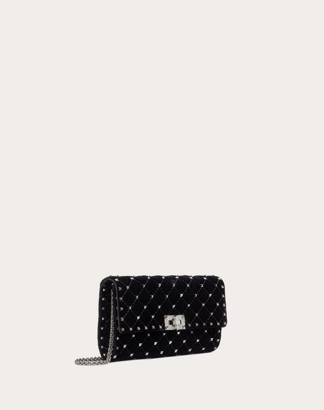Spike.It Velvet Chain Bag with Hematite Studs