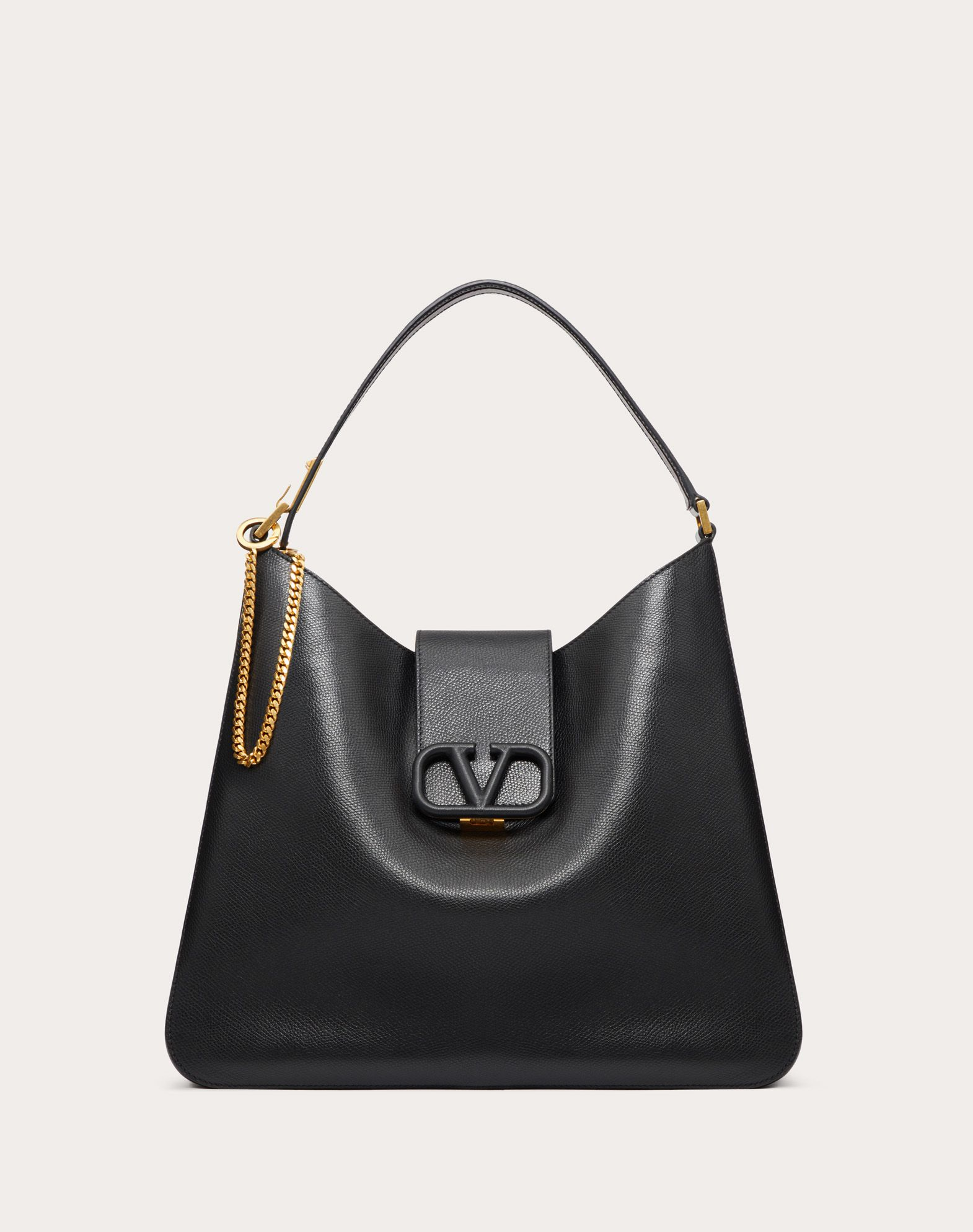 VSLING Grainy Calfskin Hobo Bag