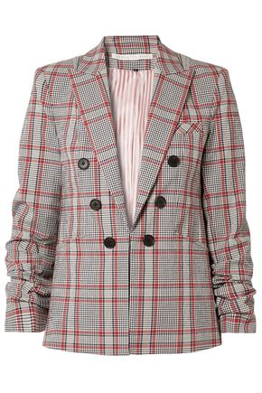 VERONICA BEARD Checked cotton-blend blazer