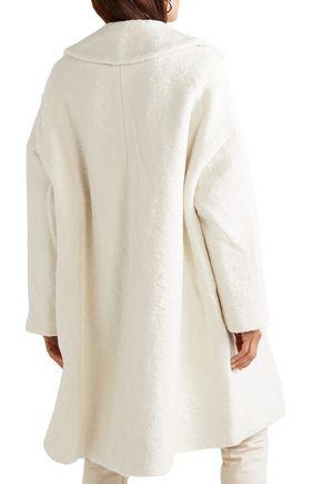 GANNI Bouclé wool-blend coat