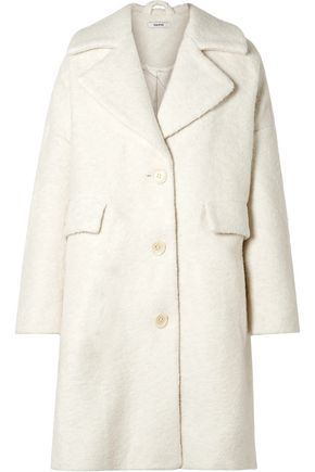 GANNI Oversized wool-blend bouclé coat