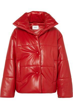 NANUSHKA Hide oversized quilted vegan leather jacket