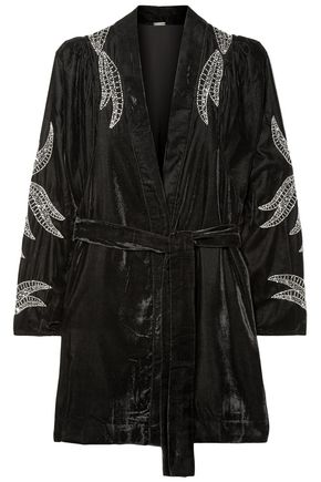 DODO BAR OR Bead-embellished velvet jacket